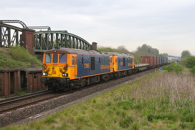 73965 Battledown 24/04/19 6X80 Dollands Moor to Eastleigh with 73963 and 802203 and 802204