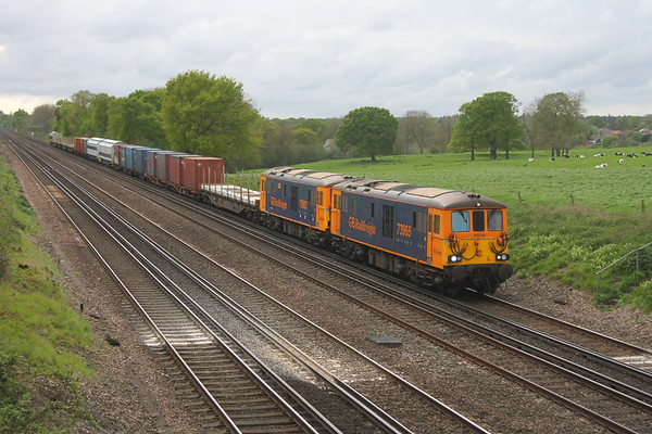 73965 Potbridge 24/04/19 6O80 Eastleigh to Dollands Moor with 73963