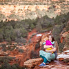 Tracy and Luna along the trail to Devil's Bridge in Sedona, AZ.