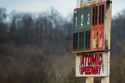 Atomic Speedway scoreboard