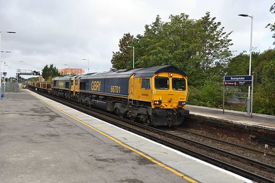 19 August 2019 :: 66701 + 66534 pass Basingstoke working 6Y48 from Eastleigh to Hoo Junction