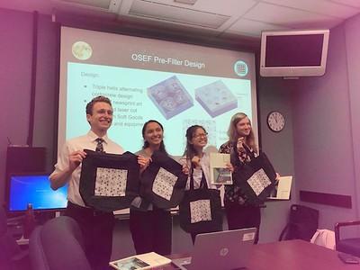 Students presenting at NASA 8.1.19