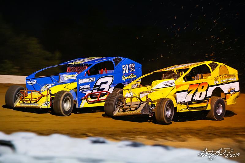 Big Diamond Speedway - 3 Billy Lasko, 78 Briggs Danner