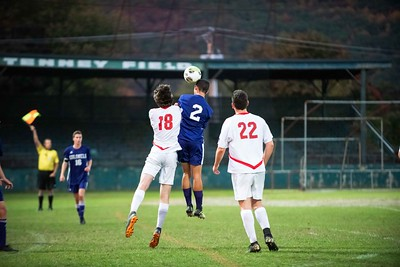 KELLY FLETCHER, REFORMER CORRESPONDENT -- Colonels boys' soccer battled the Rutland Raiders Tuesday at Tenney Field.