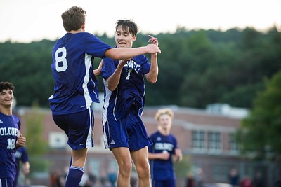 KELLY FLETCHER, REFORMER CORRESPONDENT -- Luke Williams and Alex Lier celebrate the first goal of the season