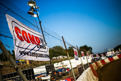 Comp Cams banner throughout Batesville Motor Speedway