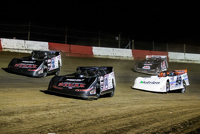 Chris Madden (0M), Scott Bloomquist (0), Jonathan Davenport (49) and Mike Marlar (157)