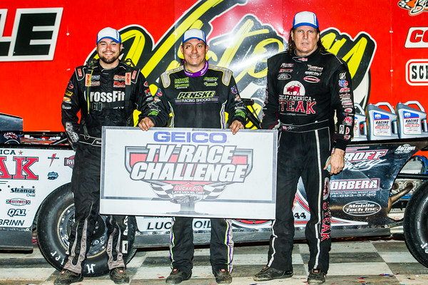 Brandon Overton (L), Chris Madden (C) and Scott Bloomquist (R)