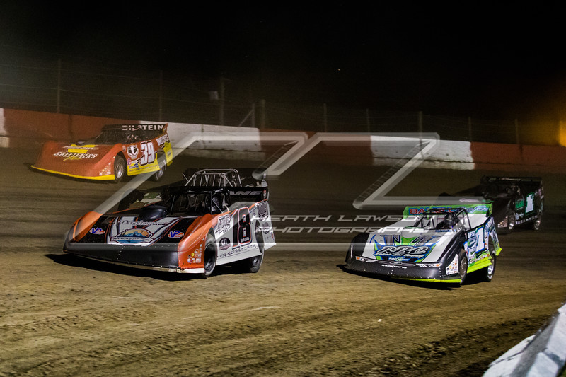 Shannon Babb (18), Tyler Erb (1), Timothy Culp (C8), Tim McCreadie (39) and Johnny Scott (1st)