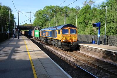 66773 0746/4E14 Felixstowe-Doncaster iport passes Bayford