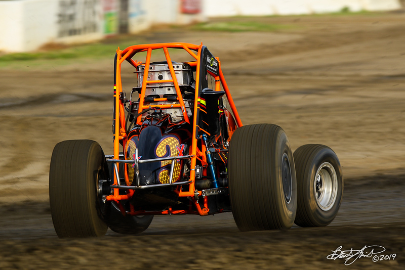 USAC East Coast Sprint Cars - Design For Vision/Sunglass Central Speedway - 3x Dominick Buffalino
