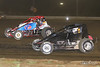USAC East Coast Sprint Cars - Design For Vision/Sunglass Central Speedway - 39 Mikey Thompson, 09 Brian Riccio