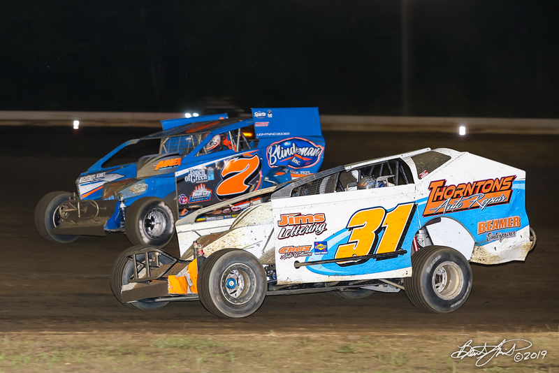 All American 40 - Design For Vision/Sunglass Central Speedway - 7 Rick Laubach, 31 Tommy Beamer
