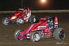 USAC East Coast Sprint Cars - Design For Vision/Sunglass Central Speedway - 32 Eric Jennings, 15 Mark Bitner