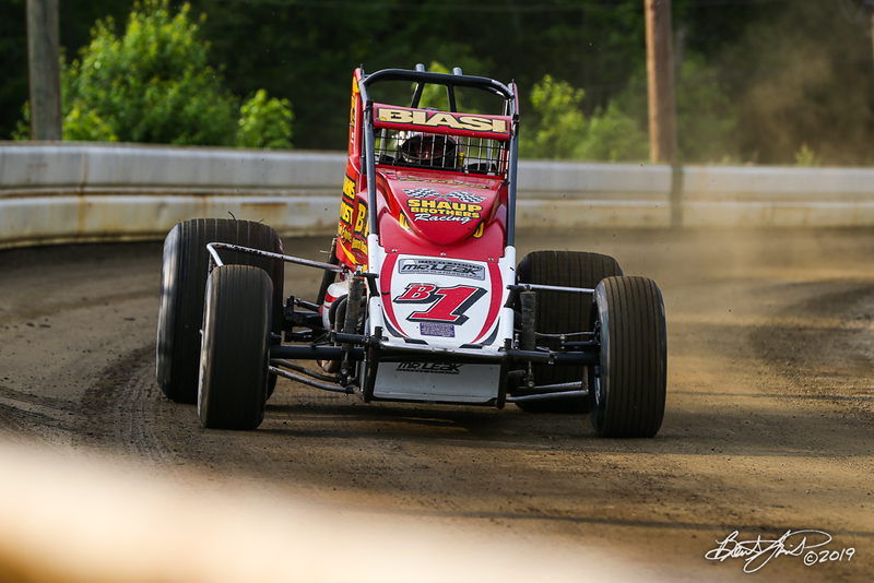 USAC East Coast Sprint Cars - Design For Vision/Sunglass Central Speedway - B1 Joey Biasi