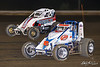 USAC East Coast Sprint Cars - Design For Vision/Sunglass Central Speedway - 9D Kevin Darling, 8L Larry Drake