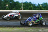 USAC East Coast Sprint Cars - Design For Vision/Sunglass Central Speedway - 9D Kevin Darling, 3H Heidi Hedin