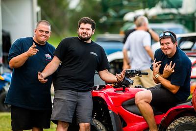 Black Diamond Racing crew members JC WRight (L), Marshall Hooter (C) and Garrett Alberson (R)