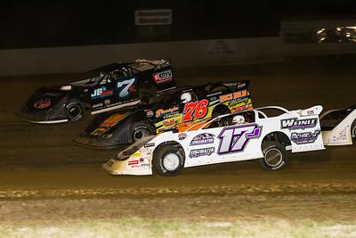 Kent Robinson (7R), Shelby Miles (76) and Greg Johnson (17V)