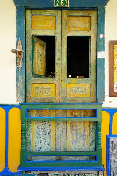 Salento door with windows open