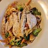 Chicken and pasta primavera at Mocawa Plaza Hotel