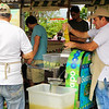Making sugar cane juice at the Farmers Market
