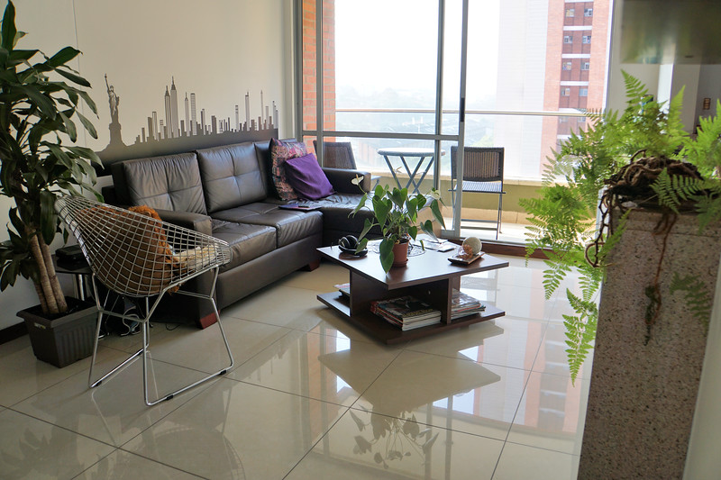 Living room of Medellín apartment
