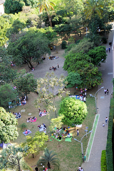Park next to our Medellín apartment