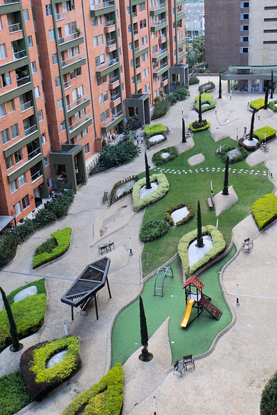 Common area of our Medellín apartment building