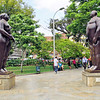 Adam and Eve Botero sculpture in Botero Plaza