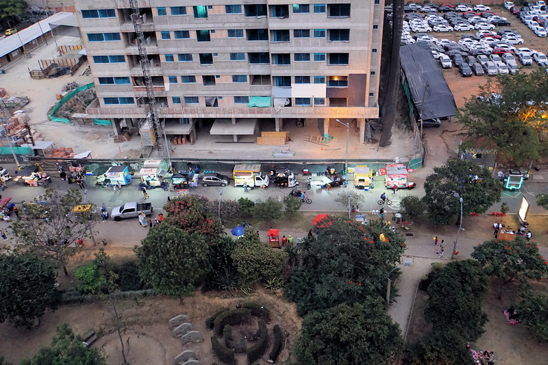 Street vendors by the park
