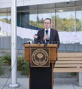"Safe Homes of Orange County hosted the ""Clothesline Project"" on Tuesday, October 1, 2019 at the Orange County Government buidling in Goshen, NY. Hudson Valley Press/CHUCK STEWART, JR."
