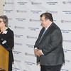 Cornerstone Family Healthcare President & CEO Linda Muller unveils a major healthcare facility upgrade to their Middletown location on Thursday, March 21, 2019. Hudson Valley Press/CHUCK STEWART, JR.