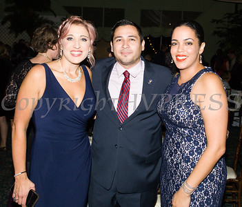 Safe Homes of Orange County Executive Director Kellyann Kostyal-Larrier, Orange County Legislator Kevindaryan Lujan and Orange County Human Rights Commission Executive Director Inaudy Esposito at Safe Homes 33rd Anniversary Celebration of Hope Gala on Friday, October 25, 2019. Hudson Valley Press/CHUCK STEWART, JR.