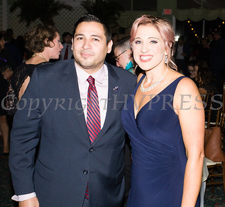 Orange County Legislator Kevindaryan Lujan and Safe Homes of Orange County Executive Director Kellyann Kostyal-Larrier at Safe Homes 33rd Anniversary Celebration of Hope Gala on Friday, October 25, 2019. Hudson Valley Press/CHUCK STEWART, JR.