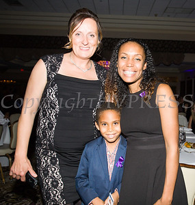 Joanna Janik with Fearless! (Safe Homes of Orange County) honoree Kristen Feden Gibbons and her son at the 33rd Anniversary and Celebration of Hope Gala on Friday, October 25, 2019. Hudson Valley Press/CHUCK STEWART, JR.