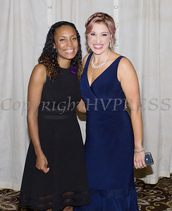 Kellyann Kostyal-Larrier, right, with Fearless! (Safe Homes of Orange County) honoree Kristen Feden Gibbons at the 33rd Anniversary and Celebration of Hope Gala on Friday, October 25, 2019. Hudson Valley Press/CHUCK STEWART, JR.