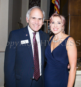 New York State Assemblyman Jonathan Jacobson with OC Safe Homes Executive Director Kellyann Kostyal-Larrier at the Fearless! (Safe Homes of Orange County) 33rd Anniversary and Celebration of Hope Gala on Friday, October 25, 2019. Hudson Valley Press/CHUCK STEWART, JR.