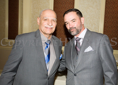 Peter Gonzalez and Bill Andujar at Latinos Unidos of the Hudson Valley 18th Anniversary and its 14th Annual Hispanic Heritage Cultural Celebration at Anthony's Pier 9 in New Windsor, NY on Friday, November 1, 2019. Hudson Valley Press/CHUCK STEWART, JR.