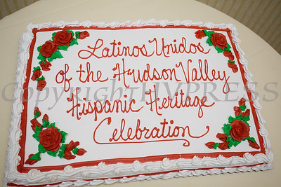 A cake from Valencia Bakery was created for Latinos Unidos of the Hudson Valley 18th Anniversary and its 14th Annual Hispanic Heritage Cultural Celebration at Anthony's Pier 9 in New Windsor, NY on Friday, November 1, 2019. Hudson Valley Press/CHUCK STEWART, JR.