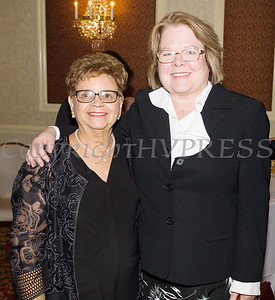 Daisy Vale and Regina McGrade, recipient of the first De Hoy Award in 2018, at Latinos Unidos of the Hudson Valley 18th Anniversary and its 14th Annual Hispanic Heritage Cultural Celebration at Anthony's Pier 9 in New Windsor, NY on Friday, November 1, 2019. Hudson Valley Press/CHUCK STEWART, JR.