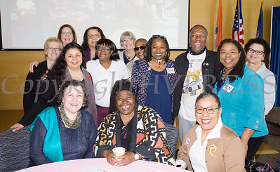Human Rights advocate Loretta Ross (seated, center) with members of Planned Parenthood Mid-Hudson Valley's Healthy Black and Latinx Coalitions prior to Ross speaking about a variety of subjects including white supremacy and the intersectionality of social justice issues on Saturday, May 4, 2019. Hudson Valley Press/CHUCK STEWART, JR.
