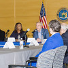 New York State Attorney General Letitia James listens to US Rep Sean Patrick Maloney during a forum in Newburgh on solutions to combat the opioid epidemic in NY State on Saturday, April 6, 2019. Hudson Valley Press/CHUCK STEWART, JR.