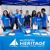 Members of Hudson Heritage Fedeal Credit Union handed out information and goodies during the all-free National Night Out event that took place in the City of Newburgh on Tuesday, August 6, 2019. Hudson Valley Press/CHUCK STEWART, JR.