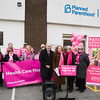 Assemblyman Jonathan Jacobson (D-104), Senator Jen Metzger's Chief of Staff Leslie Beriliant,  Planned Parenthood Mid-Hudson Valley President and CEO, Ruth-Ellen Blodgett and PPMHV Board Chair Helen Ullrich are joined by supporters and community members at a press conference on Sunday, January 27, 2019 to thank politicians. Hudson Valley Press/CHUCK STEWART, JR.
