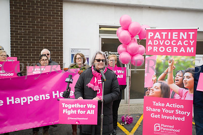 Planned Parenthood Mid-Hudson Valley Board Chair Helen Ullrich called on supporters to continue thier work during a press conference on Sunday, January 27, 2019. Hudson Valley Press/CHUCK STEWART, JR.