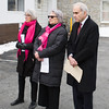 Planned Parenthood Mid-Hudson Valley President and CEO, Ruth-Ellen Blodgett,  PPMHV Board Chair Helen Ullrich, and Assemblyman Jonathan Jacobson (D-104) listen to remarks being made during a press conference on Sunday, January 27, 2019. Hudson Valley Press/CHUCK STEWART, JR.