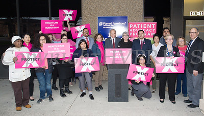 Planned Parenthood Mid-Hudson Valley (PPMHV) hosted an event with elected officials and local partners on Tuesday, April 16, to draw attention to what's at stake in New York State regarding the gag rule. Hudson Valley Press/CHUCK STEWART, JR.