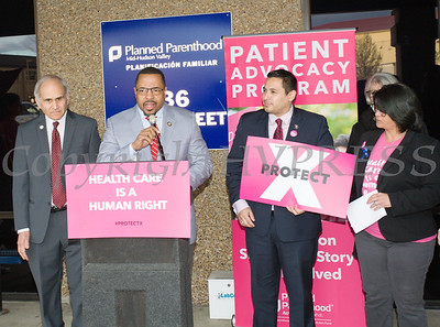 Newburgh Mayor Torrence Harvey offers remarks as Planned Parenthood Mid-Hudson Valley hosted an event with elected officials and local partners on Tuesday, April 16, to draw attention to what's at stake in New York State regarding the gag rule. Hudson Valley Press/CHUCK STEWART, JR.