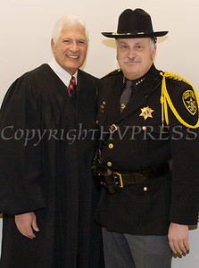 Judge Robert A. Onofry was sworn in to his second term as Surrogate Court Judge and Orange County Sheriff Carl E. DuBois was sworn in to his unprecedented fifth term as Sheriff during the Orange County Legislative organizing meeting in Goshen, NY on Thursday, January 3, 2019. Hudson Valley Press/CHUCK STEWART, JR.